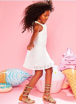 Girls 7-16 Sleeveless Lace Skater Dress - 1615051060121