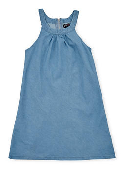 Girls 7-16 Sleeveless Chambray Shift Dress - 1615051060161