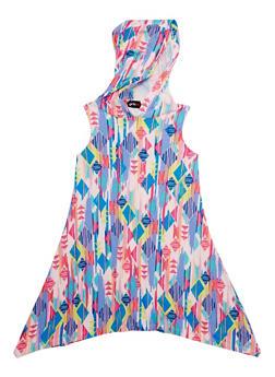 Girls 7-16 Printed Sharkbite Tank Dress with Hood - PINK - 1615051060179