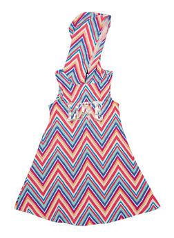 Girls 7-16 Chevron Love Graphic Dress with Hood - 1615051060182