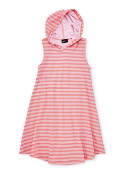 Girls 7-16 Hooded Striped Tank Dress - 1615051060187