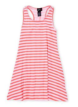 Girls 7-16 Sleeveless Striped Tank Dress - 1615051060189