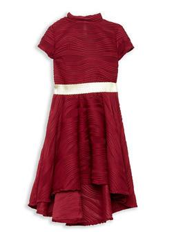 Girls 7-16 Textured Knit Skater Dress - 1615051060207