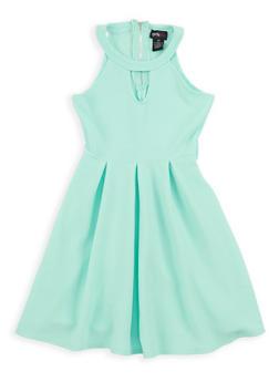 Girls 7-16 Textured Knit Skater Dress - 1615051060299