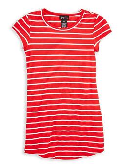 Girls 7-16 Striped T Shirt Dress - 1615051060305