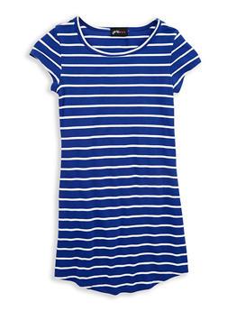 Girls 7-16 Striped T Shirt Dress - 1615051060306