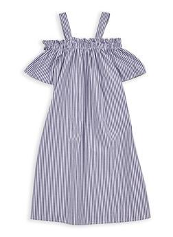 Girls 7-16 Striped Off the Shoulder Dress - 1615051060313