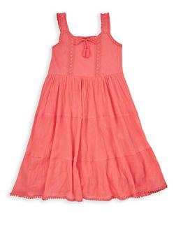 Girls 7-16 Tiered Gauze Knit Tank Dress - 1615054730028