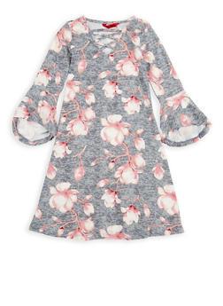 Girls 7-16 Floral Bell Sleeve Shift Dress - 1615060580030