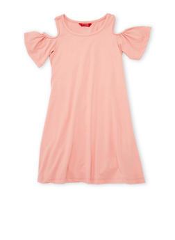 Girls 7-16 Cold Shoulder Shift Dress - 1615060580274
