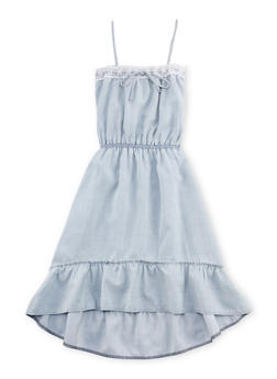 Girls 7-16 Limited Too Ruffled Denim Sundress - 1615060990005