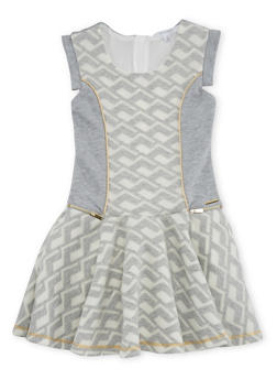 Girls 7-16 Sean John Printed Skater Dress with Zipper Accents - 1615072750001