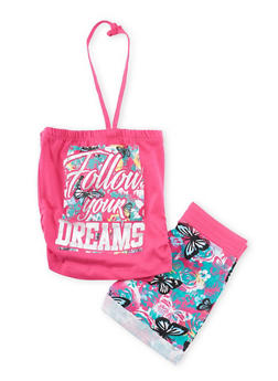 Girls 4-6x Follow Your Dreams Top with Shorts - 1616061950031