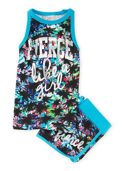 Girls 4-6x Like a Girl Graphic Tank Top and Shorts Set - 1616061950034