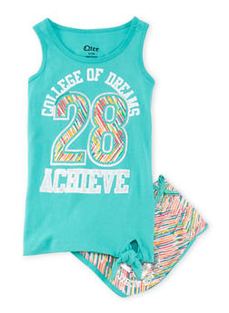 Girls 4-6x Dreams Graphic Tank Top and Shorts Set - 1616061950052