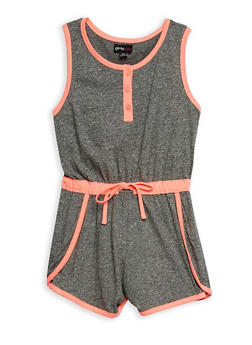 Girls 7-16 Sleeveless Marled Knit Romper - 1617051060096