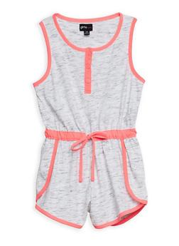 Girls 7-16 Sleeveless Marled Knit Romper - 1617051060096