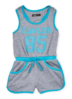 Girls 4-6x Flawless 85 Graphic Romper - 1618038340028