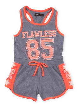 Girls 4-6x Flawless 85 Graphic Romper - 1618038340030