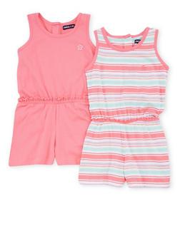 Girls 4-6x Limited Too Sleeveless Soft Knit Romper Set - 1618060990005