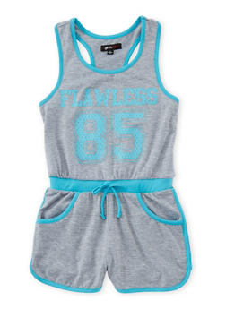Girls 7-16 Sleeveless Athletic Flawless Graphic Romper - 1619038340029
