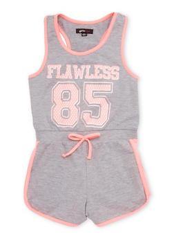Girls 7-16 Flawless 85 Graphic Tank Romper - 1619038340034