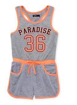 Girls 7-16 Paradise 36 Graphic Romper - 1619038340036