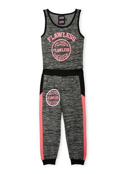 Girls 7-16 Flawless Graphic Jumpsuit - BLACK - 1619063400012