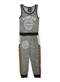 Girls 7-16 Flawless Graphic Jumpsuit - HEATHER - 1619063400012