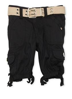 Girls 4-6x Belted Cargo Bermuda Shorts - 1620038340038