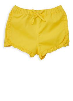 Girls 4-6x Ruffled Twill Shorts - 1620038340067
