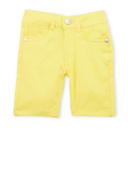 Girls 4-6x Yellow Bermuda Shorts - 1620054730004