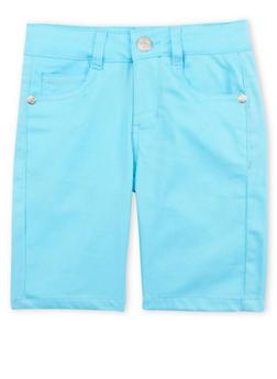 Girls 4-6x Turquoise Bermuda Shorts - 1620054730005