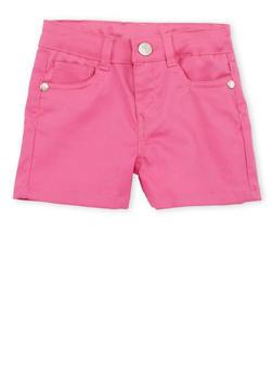 Girls 4-6x Pink Twill Shorts - 1620054730007