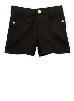 Girls 4-6x Black Twill Shorts - 1620054730008