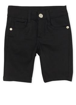 Girls 4-6x Solid Twill Bermuda Shorts - 1620054730009