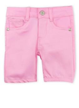 Girls 2T-6x Solid Twill Bermuda Shorts - 1620054730010