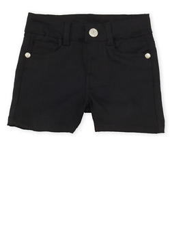 Girls 4-6x Solid Twill Shorts - 1620054730011