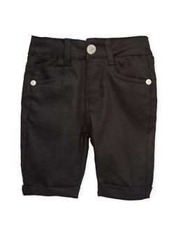 Girls 4-6x Solid Twill Bermuda Shorts - 1620054730012