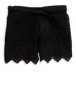 Girls 7-16 Crochet Front Shorts - 1621023130004