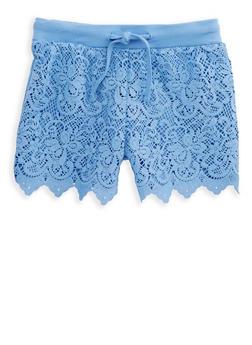 Girls 7-16 Crochet Front Shorts - 1621023130004