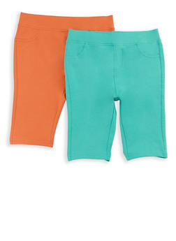 Girls 7-16 Bermuda Shorts Set of 2 - 1621024260001