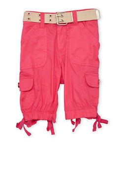 Girls 7-16 Belted Cargo Bermuda Shorts - 1621038340032