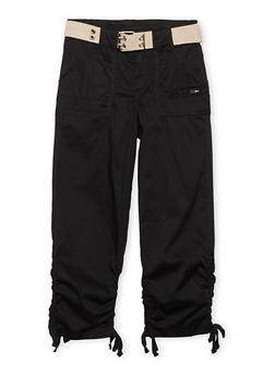 Girls 7-16 Belted Cargo Pants - 1621038340033