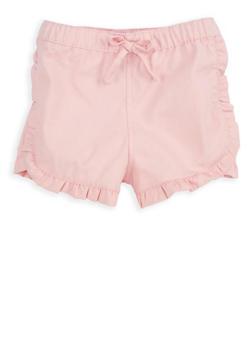 Girls 7-16 Blush Twill Shorts - 1621038340066