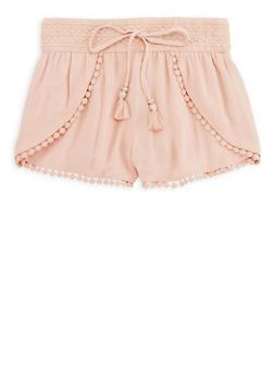 Girls 7-16 Crochet Trim Gauze Knit Shorts - 1621051060025