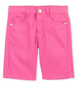 Girls 7-16 Pink Bermuda Shorts - 1621054730002