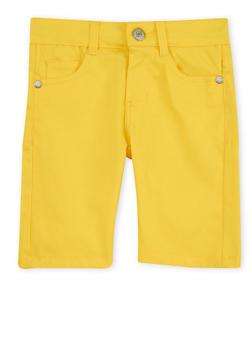 Girls 7-16 Yellow Bermuda Shorts - 1621054730004