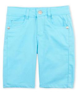 Girls 7-16 Turquoise Bermuda Shorts - 1621054730005