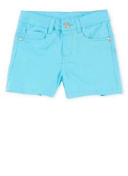Girls 7-16 Solid Twill Shorts - 1621054730009